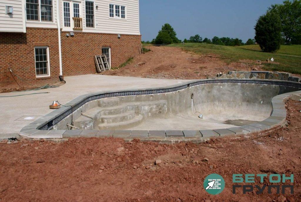 Устройство бетонного бассейна на даче