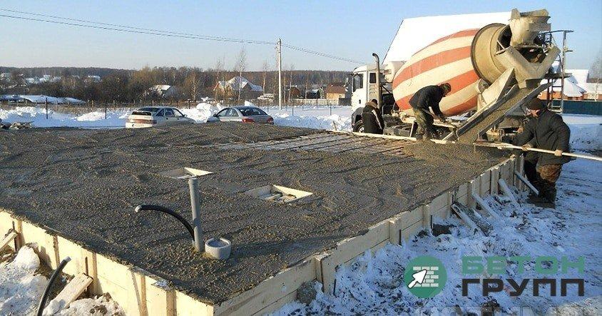 Бетонной смеси зимой купить установку для сверления отверстий в бетоне